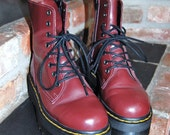 Burgundy Platform Doc Martens US 5 UK 4