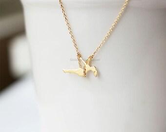 Dainty Swinging Girl, Girl on Swing Necklace, dainty necklace, mix and match necklace, delicate necklace
