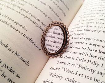 Handmade Gone With The Wind Ring // Bronze Oval Adjustable Ring // Scarlett O' Hara Rhett Butler // Margaret Mitchell Book Ring