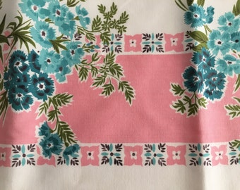 Vintage 1950s Tablecloth - Great Colors!!