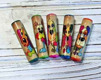 Dog Paper Beads Artisan Handmade Beads for Pens and other Beadable Products