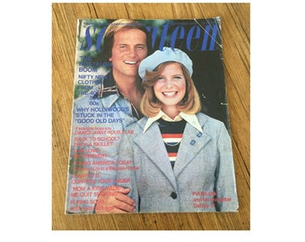 Seventeen Magazine Vintage Teen Fashion 1970s 70s Magazine September 1974 Pat Boone Cosmetic Fashion Ads 17