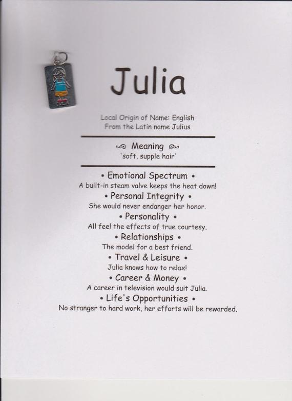Bedeutung Des Namen Julia