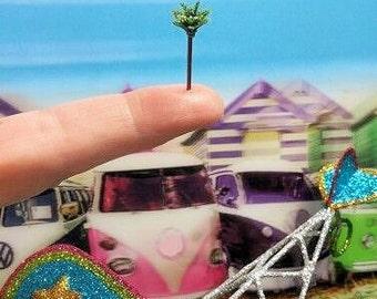 1 miniature palm tree micro miniatures diorama jewelry terrarium miniature world