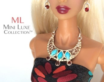 OOAK Doll Jewelry | Fashion Royalty | Barbie Doll | Poppy Parker |Silkstone Barbie | Fashion Doll Jewelry | Barbie Jewelry | Sterling Silver