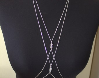 EXPRESS Shipping in 3-5 days DOUBLE - Crystal- Body Jewelry, Beach Jewelry