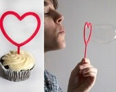 3D Printed Cupcake Sticks Bubble Wands Hearts