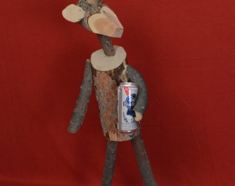 Rudolph & A Cold One Log Deer