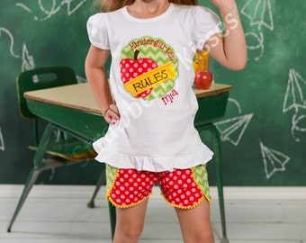 Personalized First Day of School/Back to School Shirt/Outfit [Grade] Rules, Preschool, Kindergarten, First Grade, Second Grade, etc...