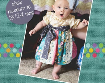 Peasant Stripwork Dress  Infant 6 mos thru 18mos