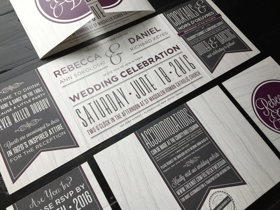 Wedding Invitations In Canada: Custom Fold Wedding Invitation Suite Wedding Invitations