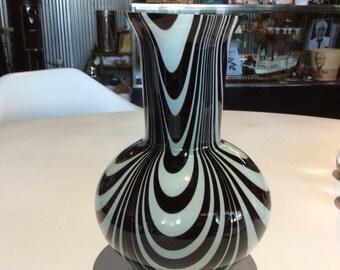 1940's Encased Art Glass Vase