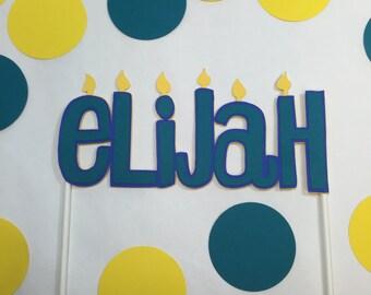 Personalized cake topper,custom birthday cake topper,happy birthday decorations,name cake topper,birthday candles,personalized name topper