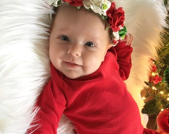 The Holiday Goddess Floral Crown