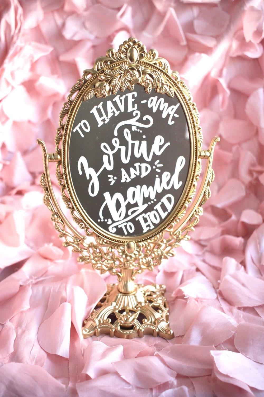 Ornate Mirror Sign Wedding Sign Wedding Mirror