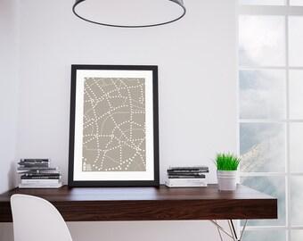 London City Dot Map Wall Art