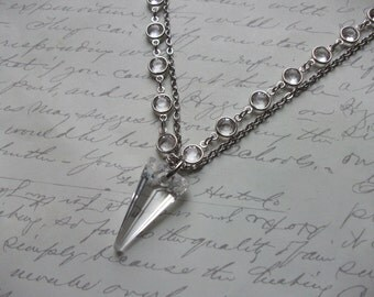 Swarovski spike pendant necklace