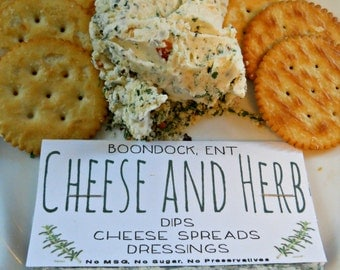 Cheese and Herb Blend - Party Cheese Ball Mix - Gluten Free - No MSG or Sodium - All Natural Herb Dip - Boondock Enterprises - Hostess Gift