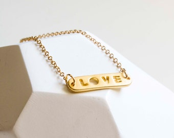 Golden chain 'Love'-gold plated