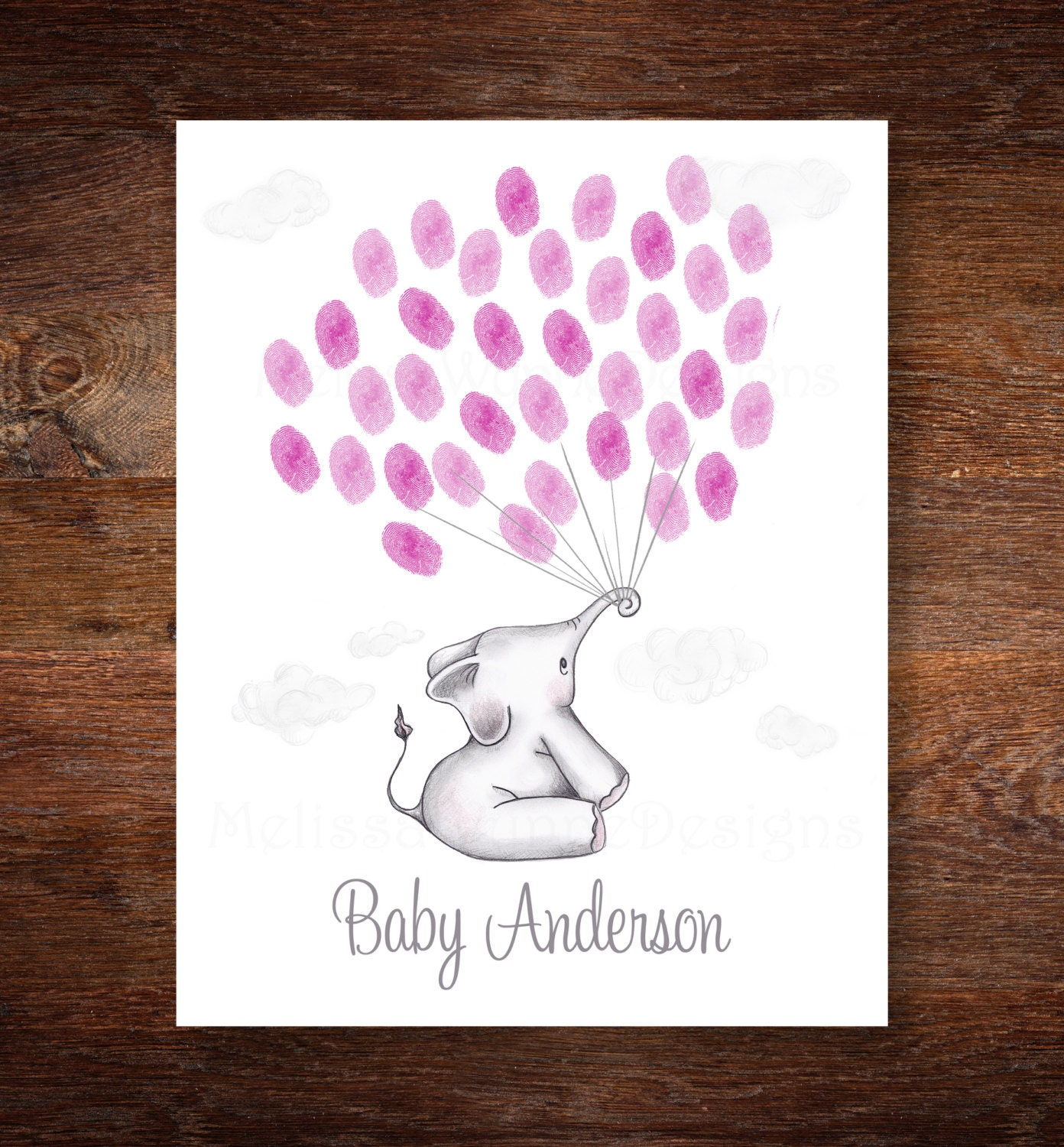 elephant baby shower guest alternative by melissawynnedesigns
