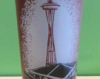 Original 1962 Century 21 Exposition Seattle World's Fair Coliseum Souvenir Glass - Free Shipping
