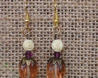 Dangle Earrings Using Vintage Beads
