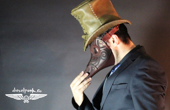 Plague Doctor Mask - Steampunk Mask - Leather Mask - Halloween Mask - LARP - Cosplay Costume by SteampunkMasks