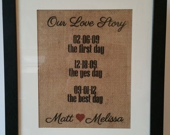 Burlap Wedding Print