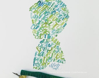 Custom Calligraphy Art - made with a Folded Pen