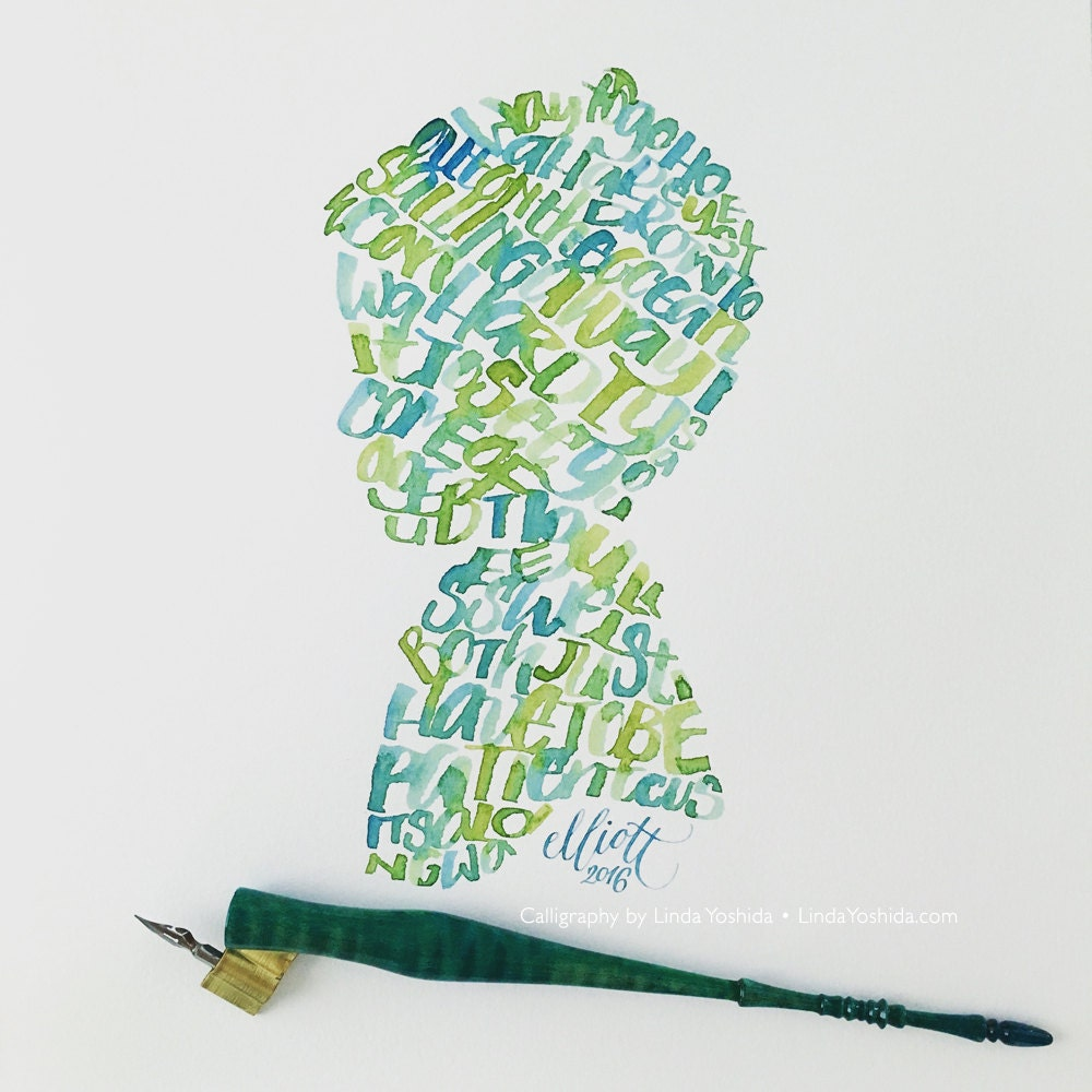 Custom Calligraphy Art Made With A Folded Pen
