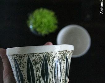 Spring Inspiration: A Sgraffito Leaf Motif Creamer