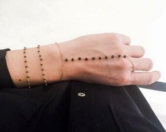 Harem slave bracelet-ring vermeil