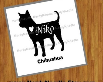 Chihuahua Decal, Chihuahua Window Decal, Chihuahua Laptop Decal, Pet Decal, I love my Chihuahua - You choose size and color.