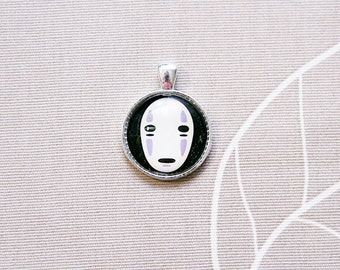 Anime necklace round pendant no face