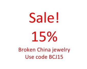 Broken China Jewelry Sale!