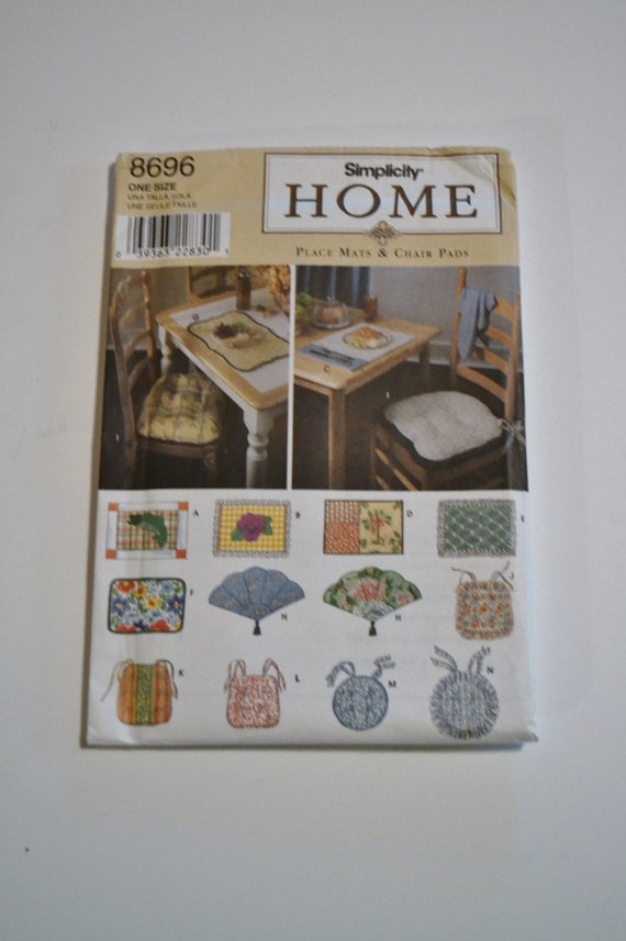 Https Www Etsy Com Listing 290288493 Simplicity Pattern 8696 Home Decor Place
