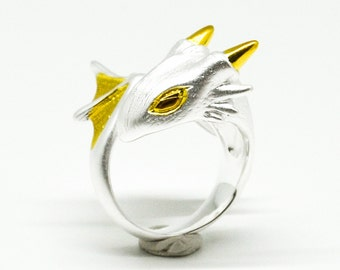Snow Dragon Ring