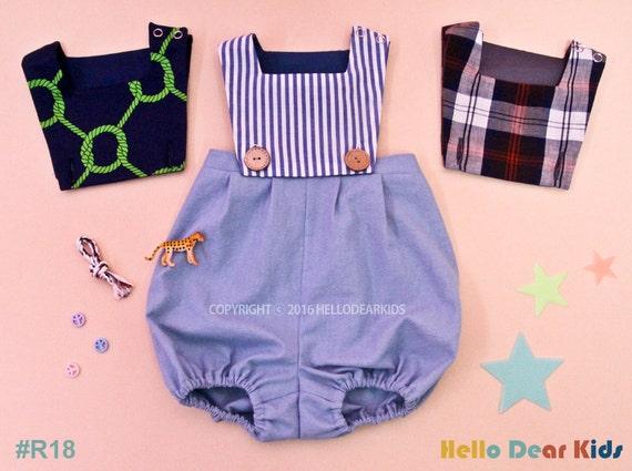 Baby Sewing Pattern Pdf Kids Vintage Romper Body Suits