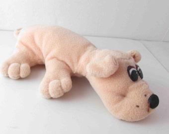 Pound Puppy Peach Plush Dog Toy Stuffed Vintage - 9 Inches