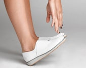 White Leather Sneakers, Slip On Shoes, Platform Shoes Leather Shoes, Sport Athletic Shoes, Flat Leather Shoes, Loafers
