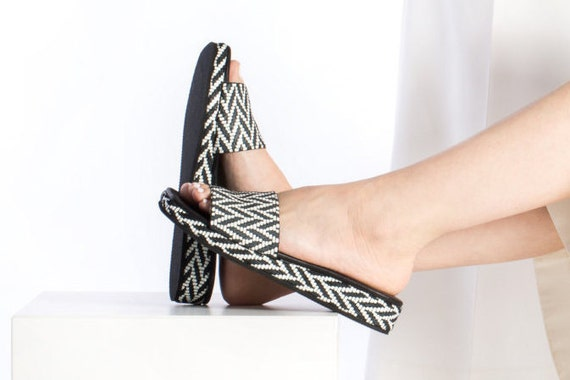 Women Sandals Platform Shoes , Flat Leather Women Shoes, Women Ethnic Style Flats, Soft Comfortable Genuine Leather, Handmade Leather Shoes