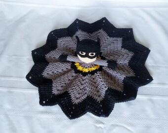 Batman Inspired Lovey/Security Blanket