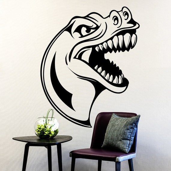 Wall decals dinosaur t rex decal nursery bedroom by decalhouse for T rex bedroom decor
