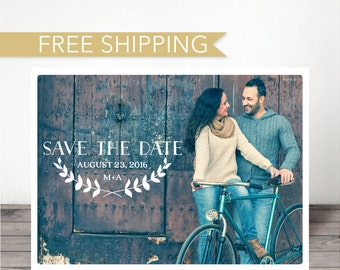 Save The Date Postcard - Simple Wedding Save The Date Postcard - Save The Date - Boho Chic Postcard - Save Our Date - Save The Date Card