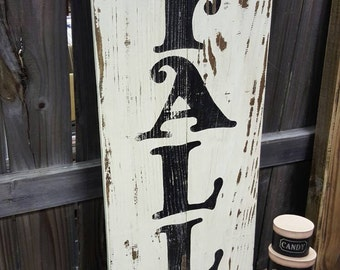 Large hand painted Happy FALL Y'all on reclaimed wood - Fall sign - Fall decor - Porch Sign