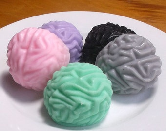 Brain Soap - Medical School Gift, Doctor Gift, Nurse Gift, Graduation Gift, Halloween Soap - Set of 4