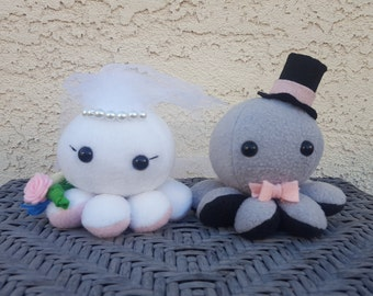 Bride and Groom Octopus Plush