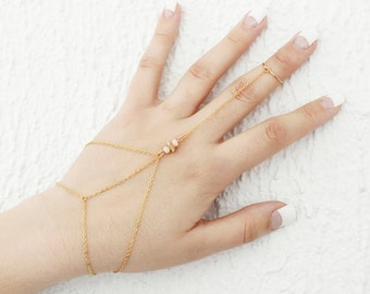Chain hand nuggets / / done in Abitibi / / to the Québec/Mrs. Elyse