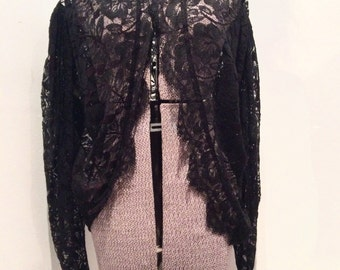 NORMA KAMALI lace jacket black and burgundy