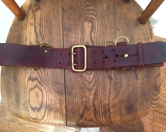 WW2 RCMP BELT leather and brass
